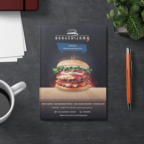 Burgerszama – Projekt ulotki