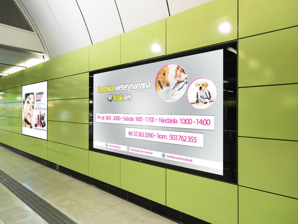 Projekt billboardu dla lecznicy weterynaryjnej