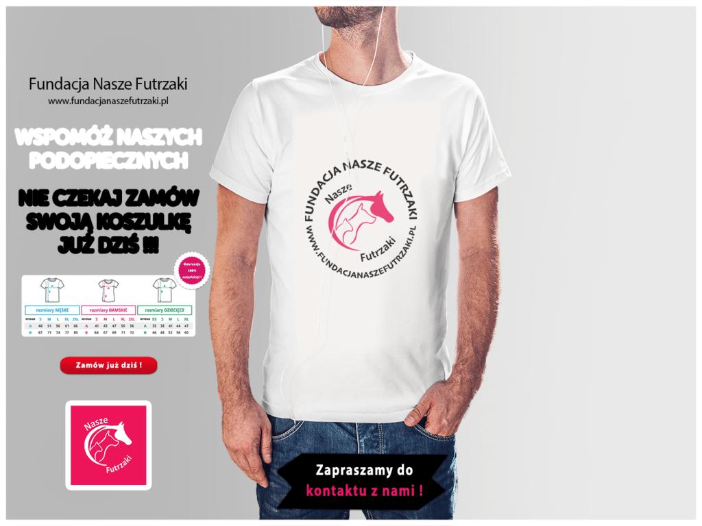 Projekt koszulki dla Fundacji Nasze Futrzaki
