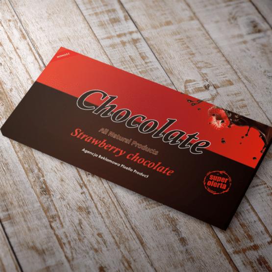 Projekt opakowania czekolady